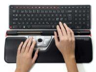Red Plus+wrist Rest+keyboard+hands